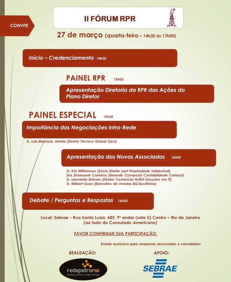 CONVITE - II Forum RPR